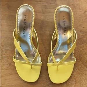 New Rampage Yellow Slide Sandals
